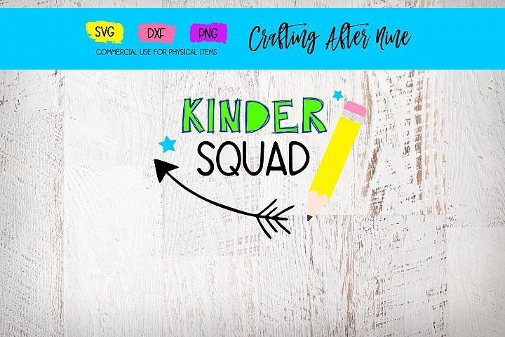 Kindergarten Svg, Kinder Squad Svg, Teacher, School Svg