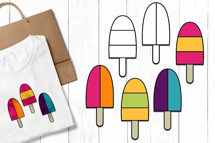 Summer Ice Cream Clip Art Illustrations example