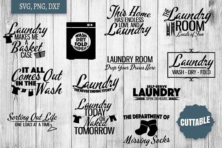 Laundry SVG bundle, Laundry cut file bundle, Home quote SVGs