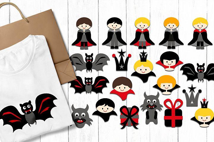 Vampire Boys - Halloween clip art illustrations example