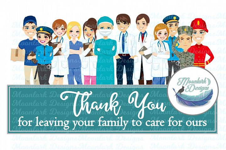 Thank you essential workers |Dr nurse PNG sublimation mail