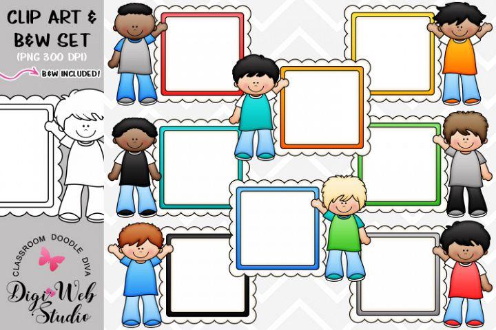 Clip Art / Illustrations - Message Board Boys
