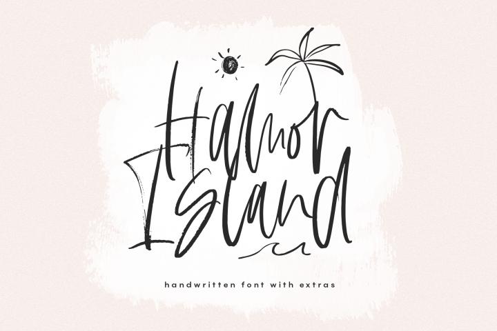 Hamor Island - Handwritten Script Font with Extras