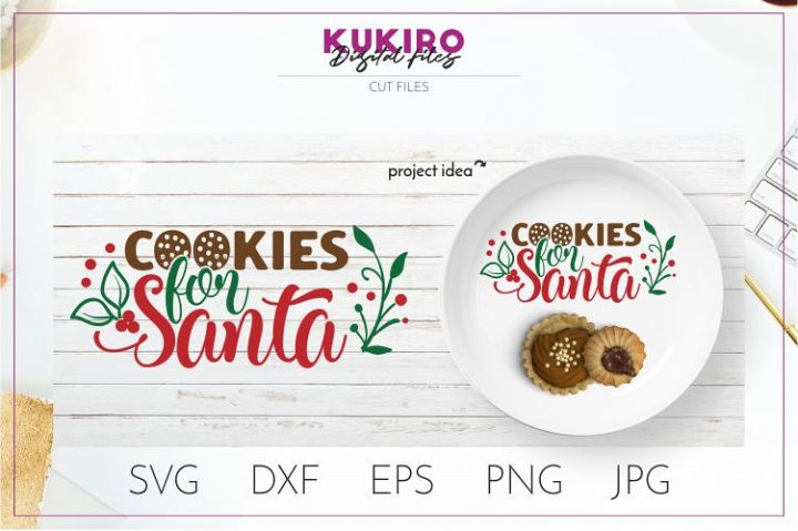 Cookies for Santa Tray SVG - Kids Christmas SVG Cut file