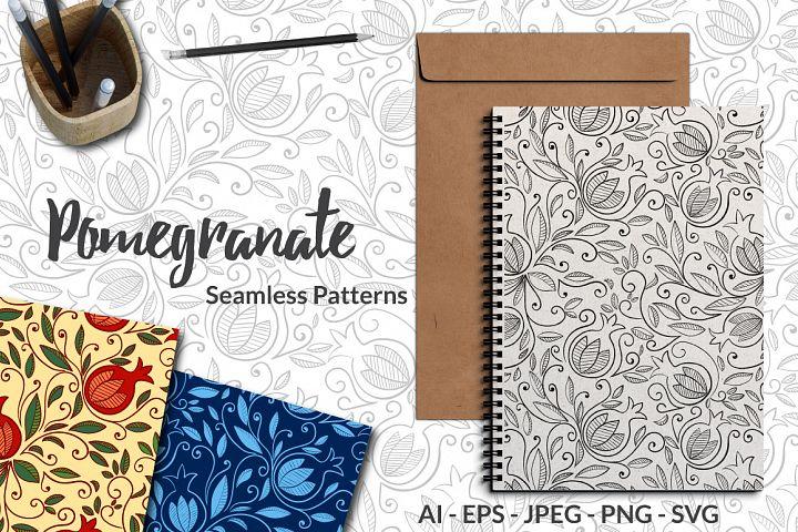Pomegranate - Seamless Patterns