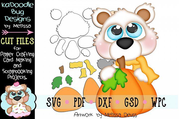 Fall S Bear Peeker Cut File - SVG PDF DXF GSD WPC