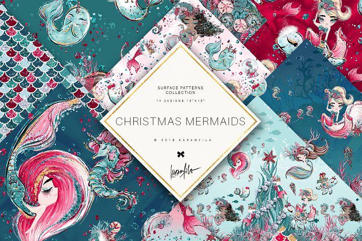 Christmas Mermaid Patterns