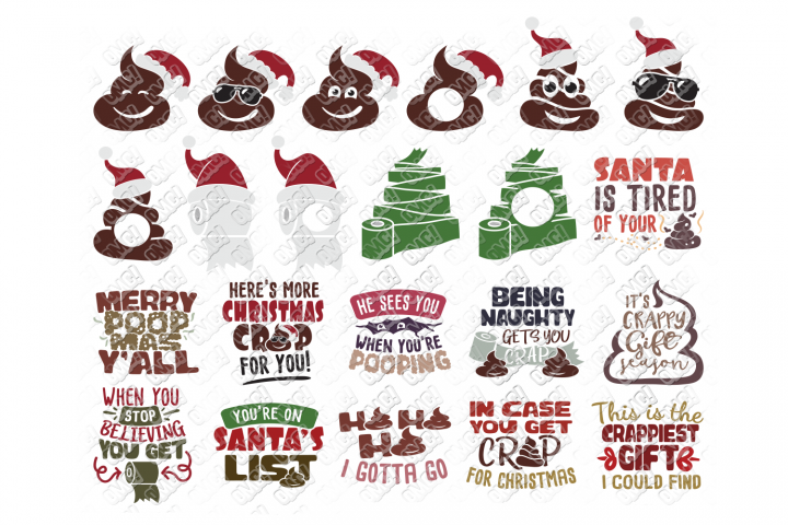 Christmas Toilet Paper SVG Funny in SVG, DXF, PNG, EPS, JPEG