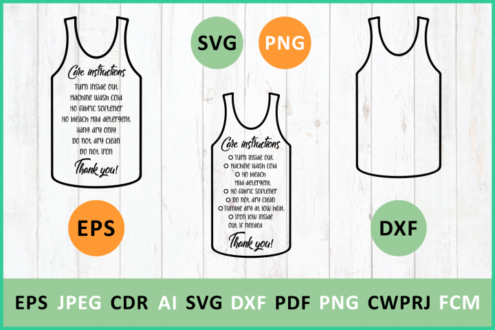 Care instruction TShirt Muscle Tanks svg