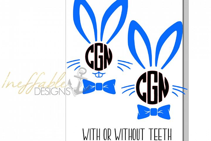 Boys Bunny Monogram Easter Monogram