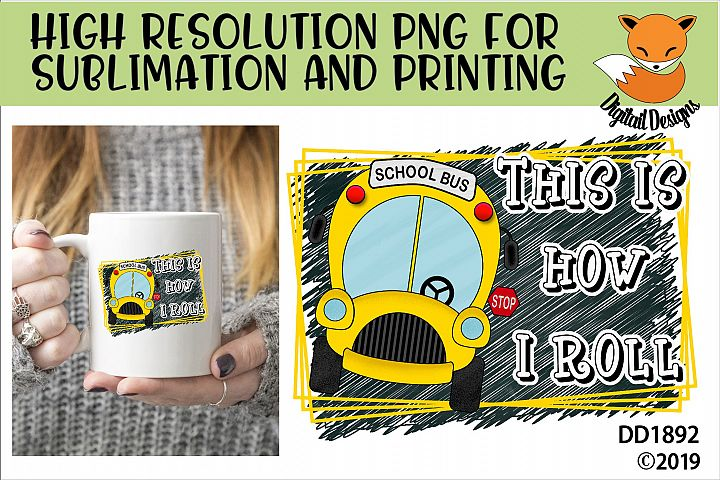 School Bus Driver PNG for Sublimation