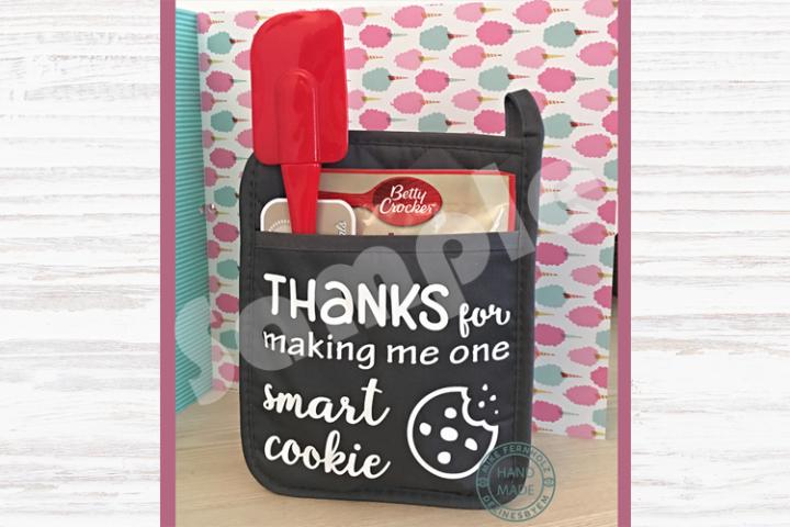 Thanks for making me one smart cookie SVG. Pot holder design