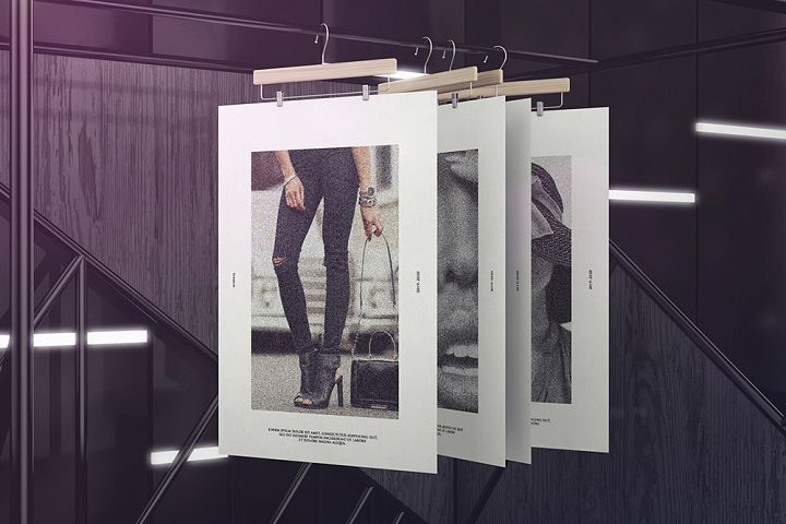 Exhibition Poster Stand Mockups