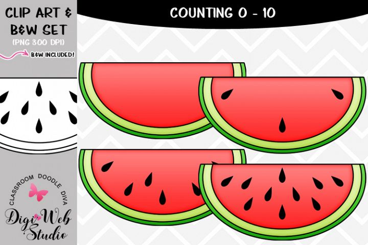 Clip Art / Illustrations - 0-10 Counting Watermelon Seeds