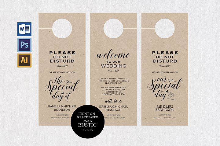 wedding door hanger, TOS_46