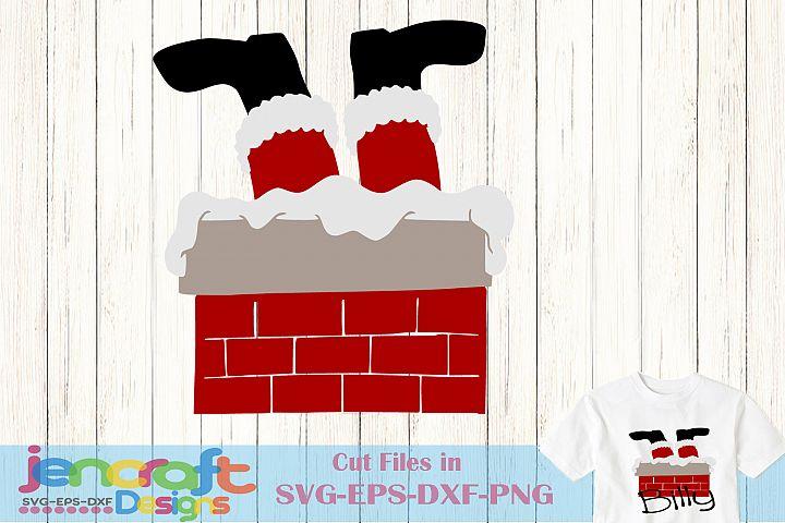 Santa in chimney svg - Santa Bottoms Up SVG, Christmas SVG