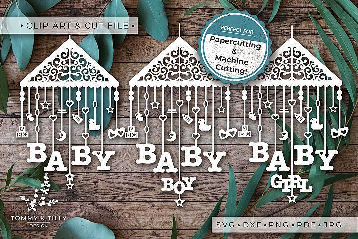 Baby Mobile Bundle - SVG DXF PNG EPS JPG PDF Cutting File example 8