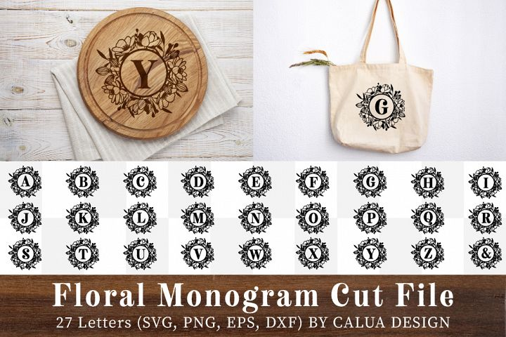 Floral Monogram Cut File