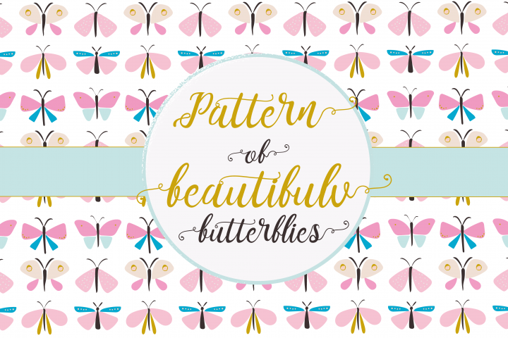 Beautiful butterflies pattern