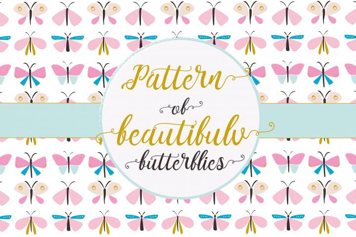 Beautiful butterflies pattern