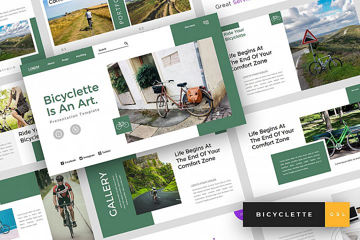 Bicyclette - Bicycle Google Slides Template