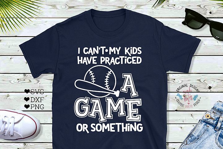 Baseball Mom Funny Cut File