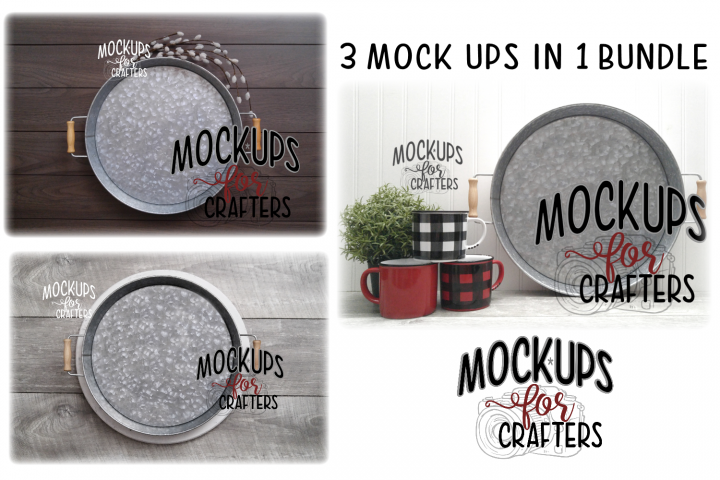 MOCK-UP - Round metal trays bundle - DOLLARAMA