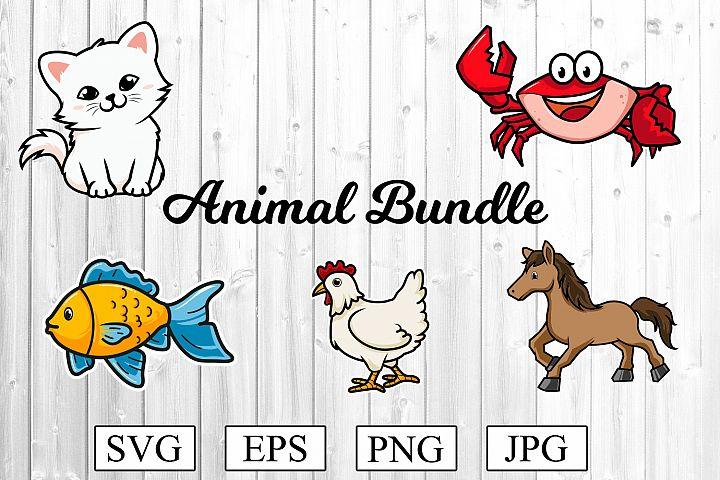 Animal SVG Bundle - Cat Svg - Chicken SVG and much more