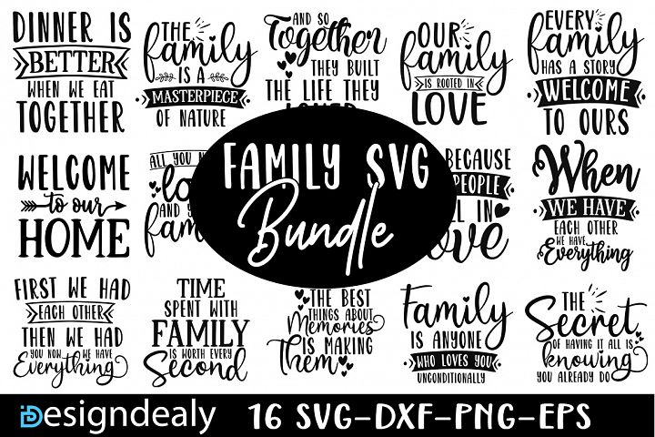 Family SVG Bundle|Family Quotes Svg | Family Shirt Svg