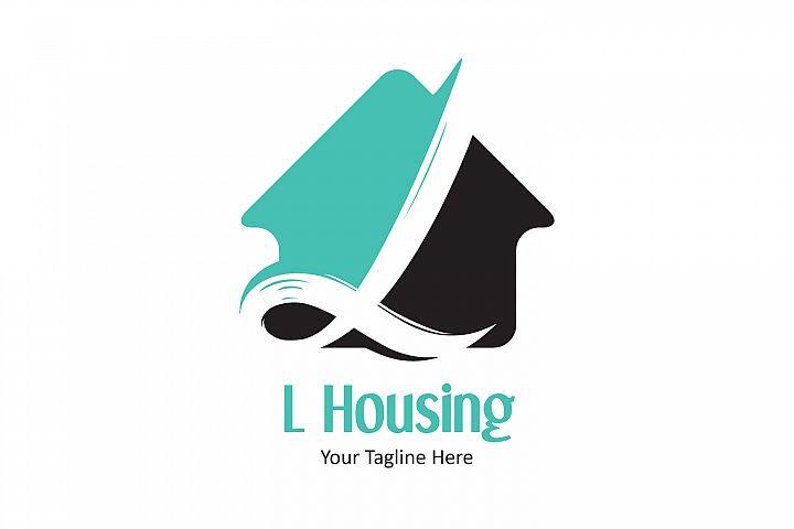 L letter house logo