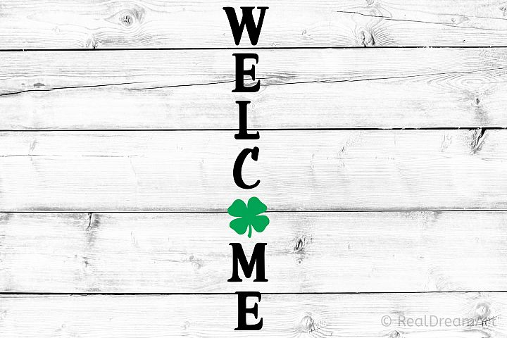 Welcome St Patricks Day Porch Sign SVG, DXF, PNG, EPS
