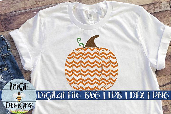 Chevron Pumpkin Digital Design