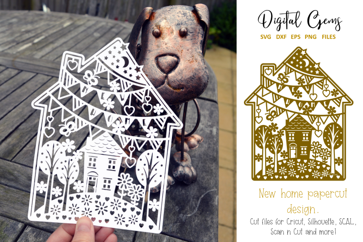 New home paper cut design. SVG / DXF / EPS / PNG