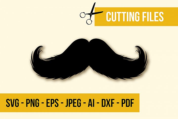 Mustache No 2 SVG Cut File