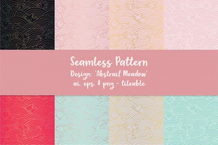 Abstract Meadow Seamless Pattern
