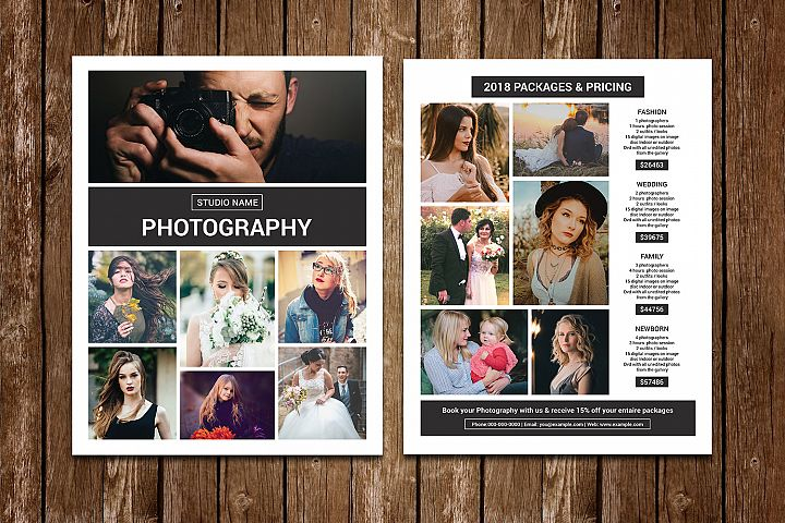Photography Price List Template | Photoshop Template