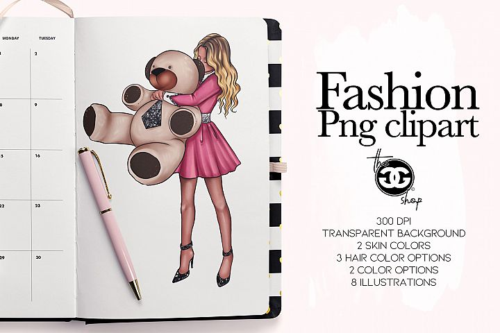 Fashion Png Planner Clipart