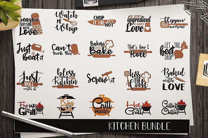 Kitchen SVG bundle - Cut files - Apron print - towel print
