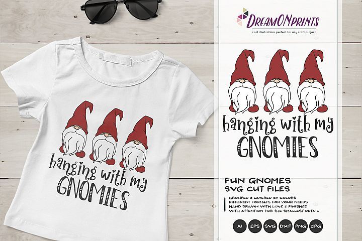 Christmas Gnomes SVG - Hanging with My Gnomies SVG