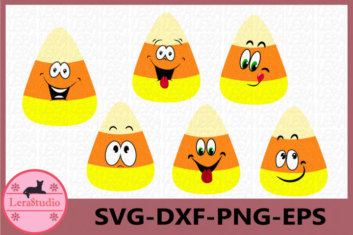 Candy Corn Funny SVG, Candy Corn Face Cutie Halloween Svg