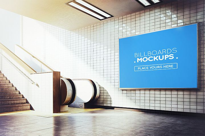 Subway Billboards Mockups Vol.3