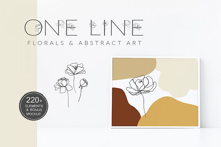 One Line Floral Drawings - Abstract