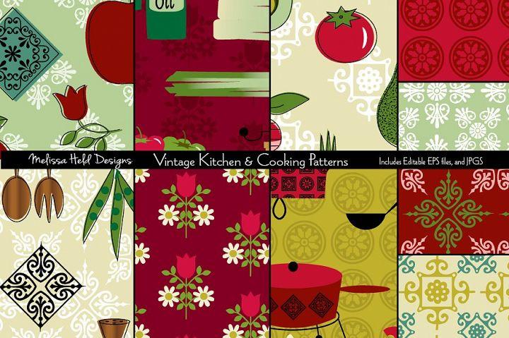 Vintage Kitchen & Cooking Patterns