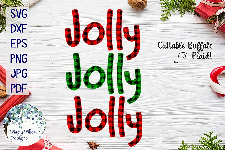 Jolly Jolly Jolly | Buffalo Plaid Christmas SVG