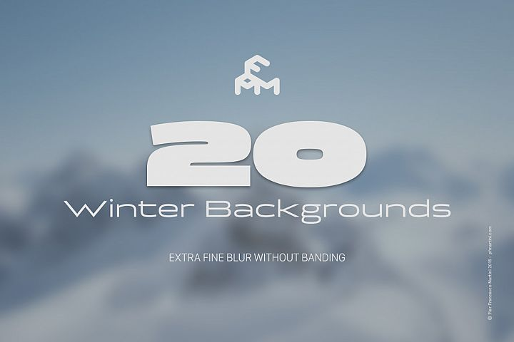 20 Winter Blurred Backgrounds