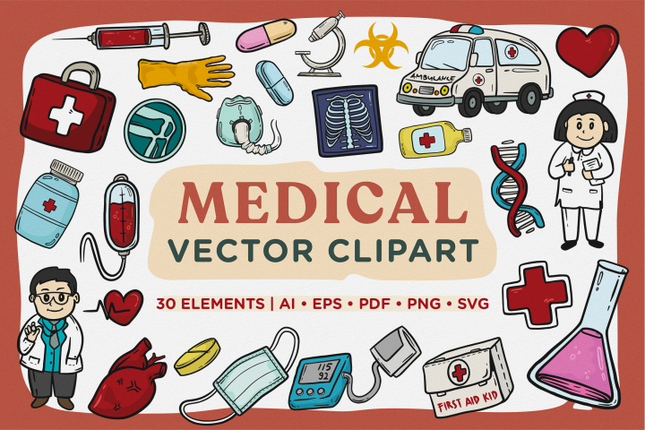 Medical Vector Clipart Pack