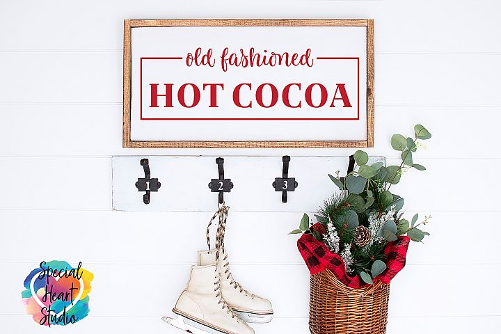 Old Fashioned Hot Cocoa - A Christmas or Winter SVG Cut
