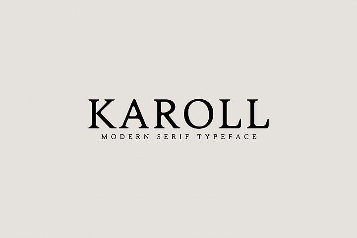 Karoll Modern Serif Font Typeface