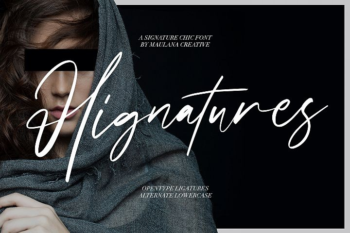 Hignatures Signature Brush Font