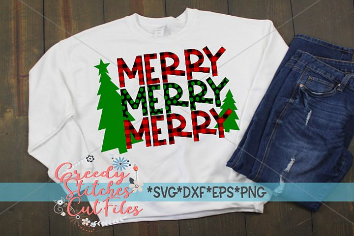 Merry Merry Merry SVG |Christmas SVG